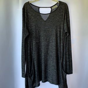 Maurices 24/7 large long sleeve pocketed tunic